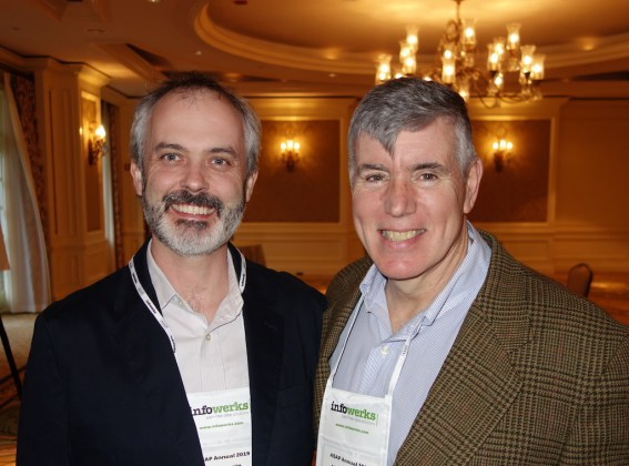 PioneerRx's Paul Carrig, left, and Mark Conners from HPOne.