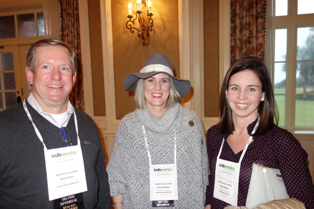 AmerisourceBergen's Bob Jones, left, and Dawn White, with eRx Network's Ryan Kelly, right.