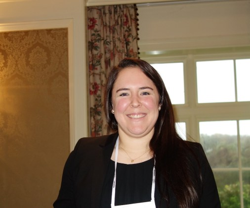 """IQVIA's Sarah Keefer gave a talk titled """"Pharmaceutical Trends, Issues, and Forecasts."""""""