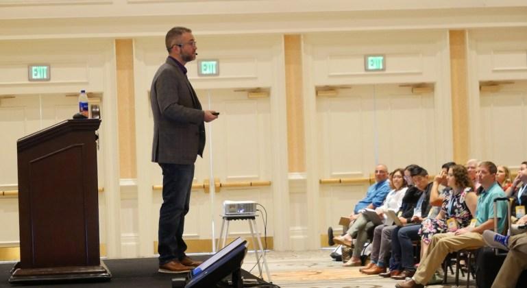 Keynote speaker David Contorno, CEO of E Powered Benefits