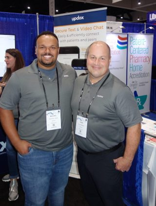 National Community Pharmacists Association 2019 Conference and Trade Show Exhibits Michael Wise, left, and Sean Ramsey from Updox.