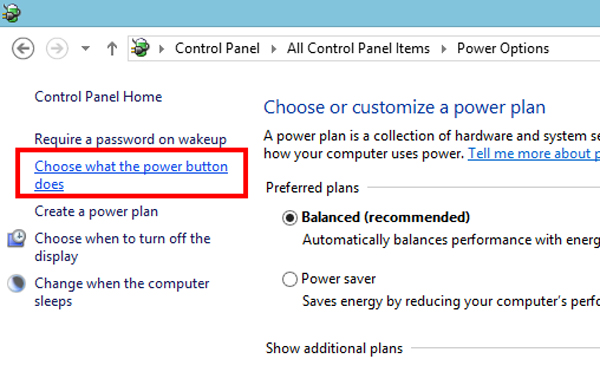 enable hibernate windows 8