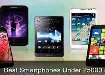 10 Best Smartphones Under 25000