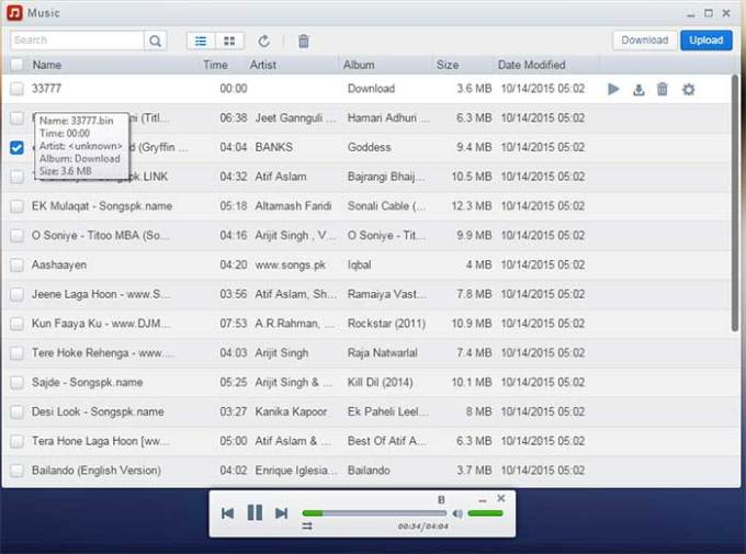 play songs airdroid