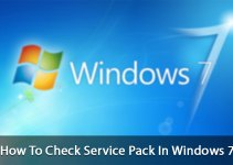 how to check service pack in windows 7