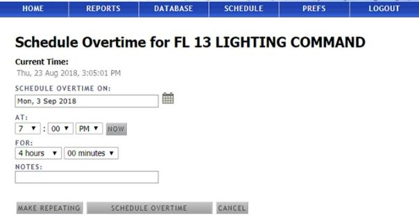 Schedule Overtime