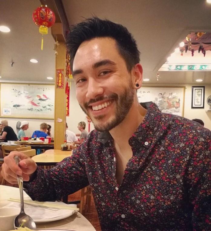 Enjoying myself in Chinatown, San Francisco