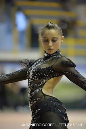 Gaia Mauriello medaglia d'argento ai campionati europei di pattinaggio