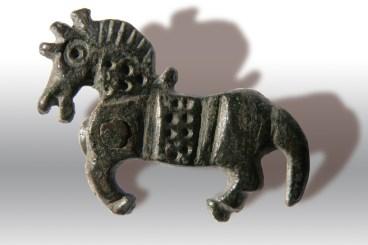 Placchetta bronzea cavallo al galoppo