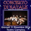 Concerto di Natale dedicato ai Quartieri al Camploy. Apri il pieghevole con il programma della serata
