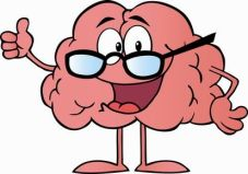Brain Character Wearing Glasses And Holding A Thumb Up