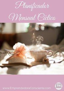 Emprendedora Consciente Planificador Mensual Cíclico