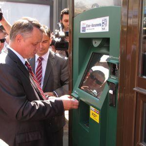 AROBS la lansarea automatului de bilete la Iasi