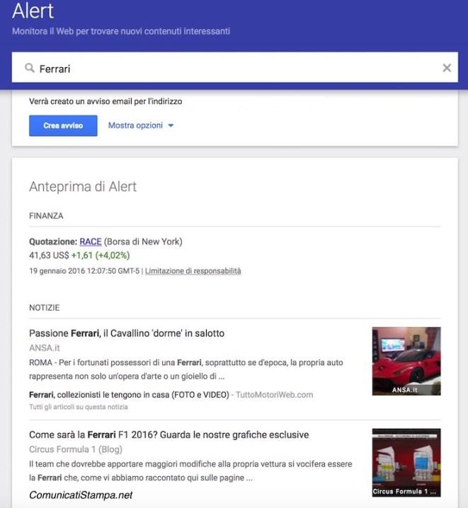 Come fare una rassegna stampa online automatica con Google Alerts