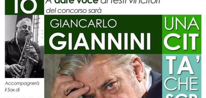 """L'attore Giancarlo Giannini alla finale del premio letterario """"Una città che scrive"""""""