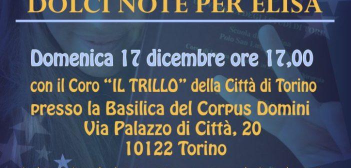 """Morti infantili: a Torino concerto natalizio """"Dolci Note per Elisa"""""""