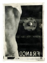 Foto d'arte. Un busto di epoca romana in marmo bianco