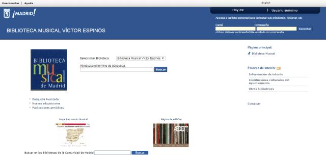 Catalogo de la Biblioteca Musical Víctor Espinós