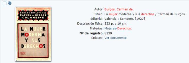 Consulta opac AbsysNet Biblioteca de la Diputación de Almería