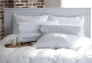white bed and pillow