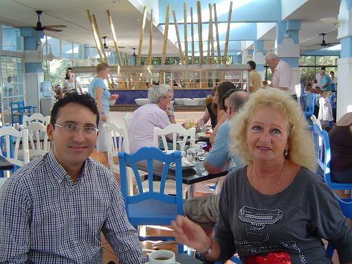 Alex y Mª. Luisa dinning room