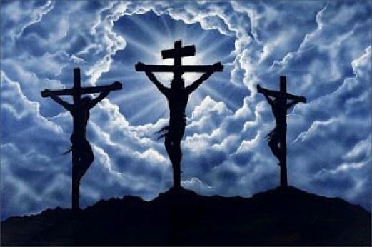 Jesus Crucificado con los 2 ladrones