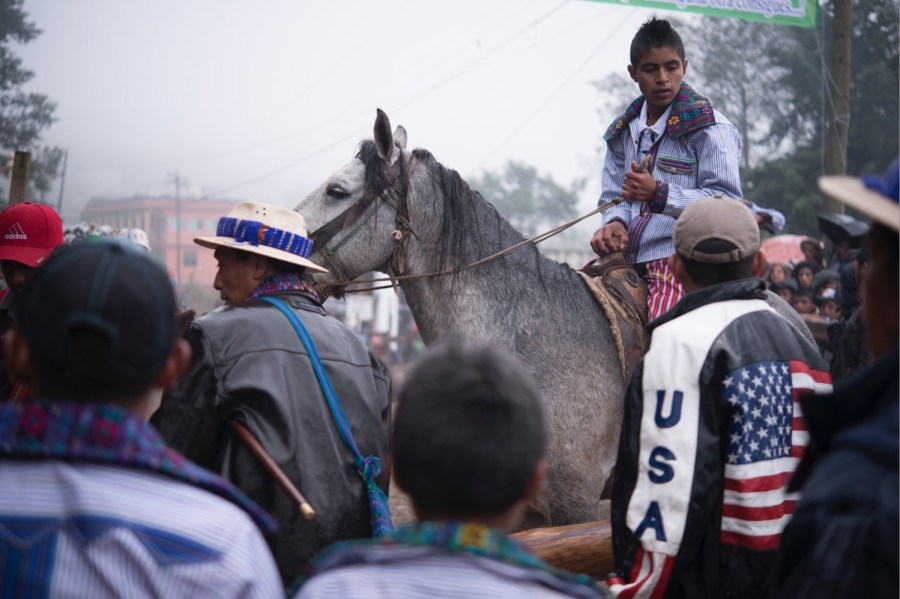 A man in the horse races of Todos Santos Cuchumatán, Huehuetenango, Guatemal. Photo: Santiago Billy/Comvite
