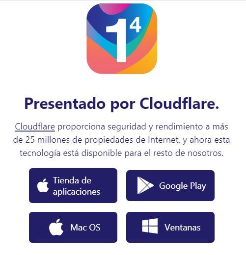 Disponibilidad de Cloudflare para todas las plataformas