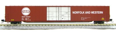 N Scale 4 Door 85 Ft Hi-Cube, Norfolk & Western (with MT couplers) 1-014661