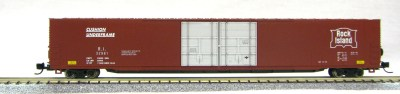 N Scale 4 Door 85 Ft Hi-Cube,Rock Island Lines (with MT couplers) 1-014672