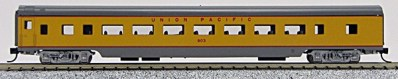 N Con-Cor Smooth Side Passenger Cars Union Pacific ( Yellow & Grey) (1-40025)