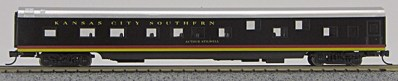 N Con-Cor Smooth Side Passenger Cars Kansas City Southern (Black with stripes) (1-40050)