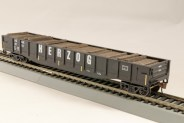 HO Gondola /with Resin Tie Full load Herzog Railway - Black. (01)