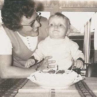 Mijn moeder en ik...