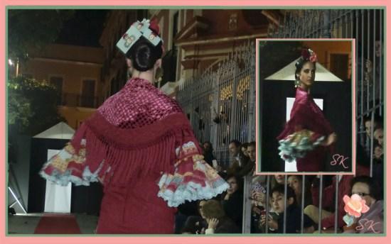 Traje flamenca Raquel Terán y complementos de Nieves San Gregorio