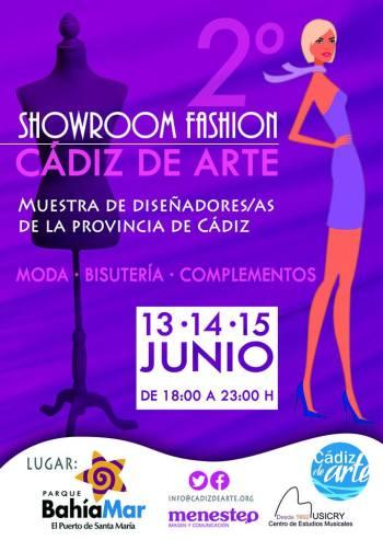 Cartel Showroom Fashion Cadiz de Arte