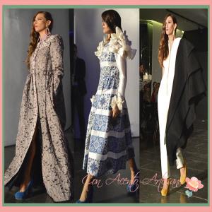 Brocados, jaretas y estampado azulejos en vestidos de Julian Ortiz