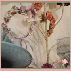 Coronas de flores liofilizadas de Manuela de los Santos