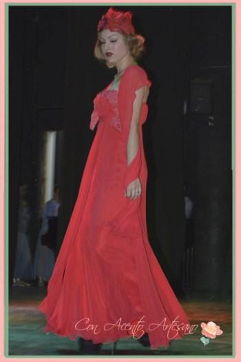 Vestido rojo de fiesta de Taller de Diseño