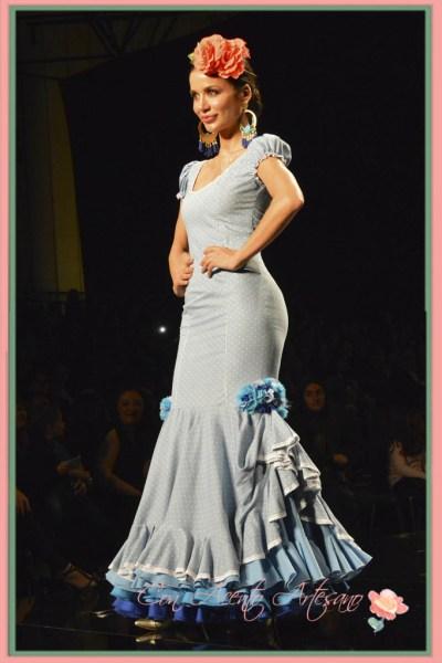Traje de flamenca de manguita bebe de Pilar Rubio
