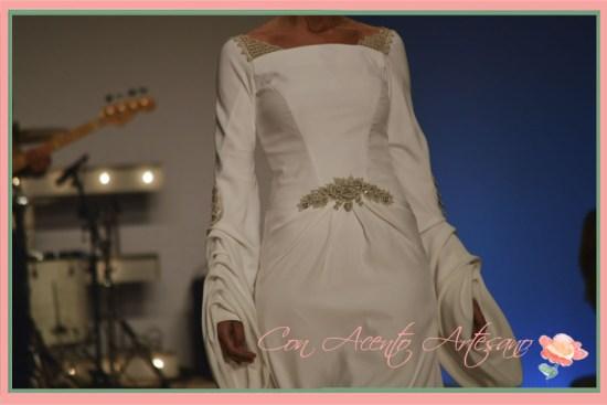 Traje de novia con aire medieval de Juan Vara