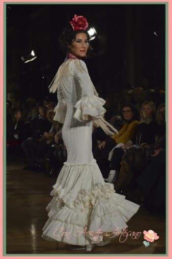 Traje de flamenca blanco de Fabiola