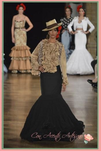 Animal print de Maria Luna para traje de flamenca
