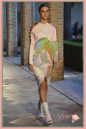 Vestido midi de Yván Andreu en Andalucía de Moda 2015