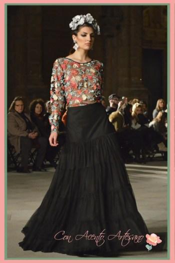 Transparencias y plumeti para falda de capa de Irene Vazquez