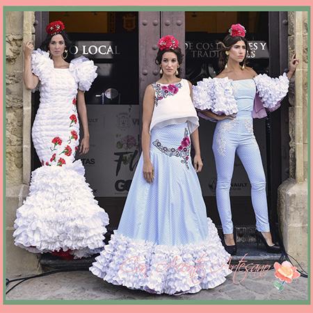Trajes de flamenca de Ángeles Fernández en Vejer Flamenco