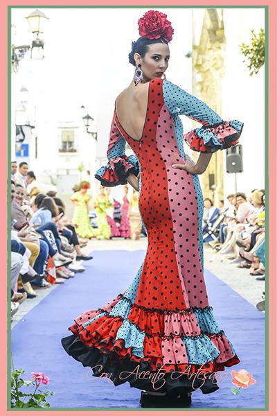Traje de flamenca evasé de Carmen Fitz en Vejer Flamenco