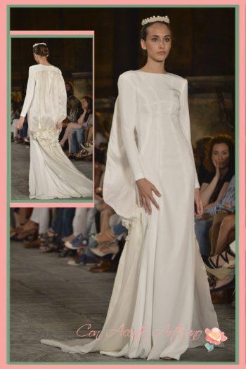 Vestido de novia con inspiración en Balenciaga de Fernando Claro en SIQ 2016