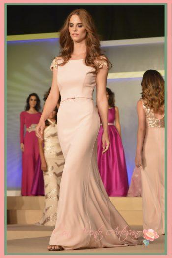 Vestido sirena en crepe de Ana Torres en Miss World Sevilla 2016
