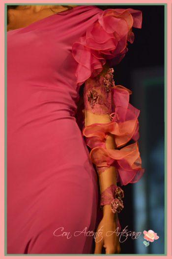 Mangas de en vestidos de Manuel Odriozola en Miss World Sevilla 2016